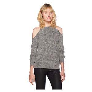BB Dakota corwin black white cold shoulder sweater